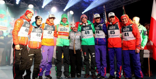 FIS World Cup Wisla 2016: Bibs giving ceremony