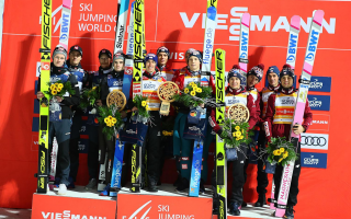 Austrian team to win, Polish athletes on the podium