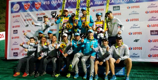FIS GP WISŁA 2015: POLISH NATIONAL TEAM THE BEST IN TEAM CONTEST!